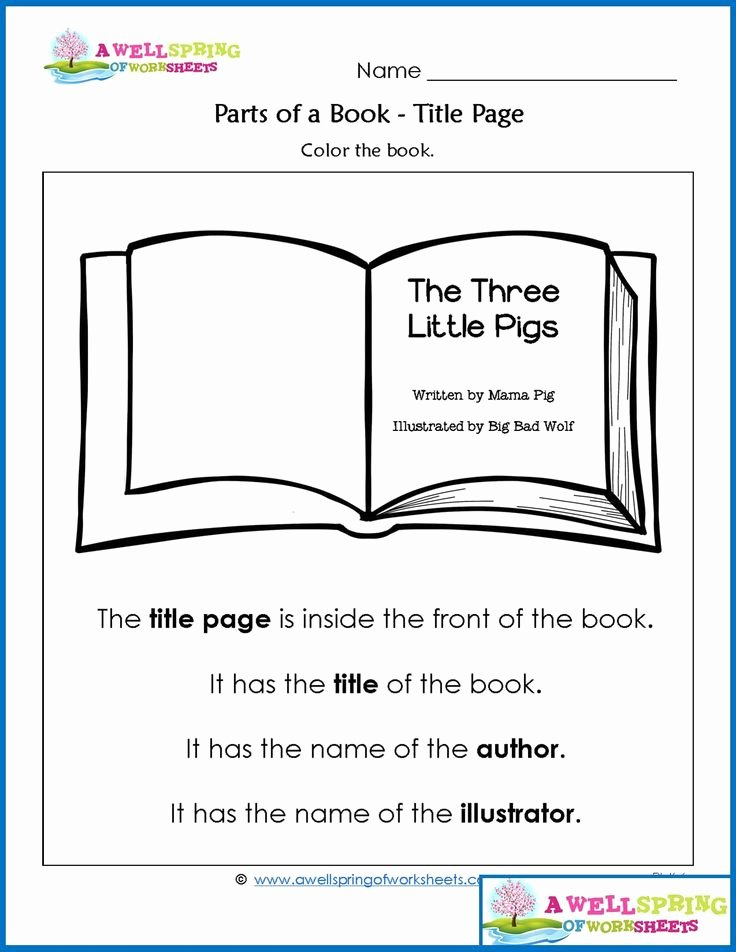 Parts Of A Book Worksheet Elegant 183 Best Kindergarten Language Arts Images On Pinterest