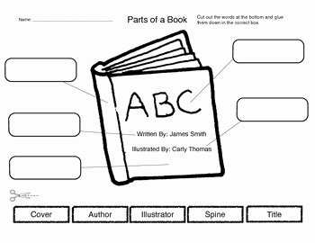 Parts Of A Book Worksheet Elegant Parts Of A Book by the Learning Library