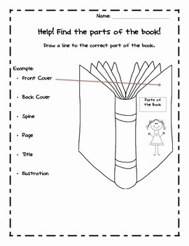 Parts Of A Book Worksheet Inspirational Parts Of A Book Kindergarten Mon Core by Like Mother