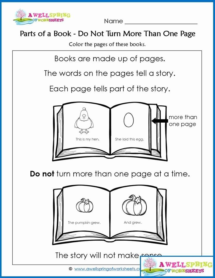Parts Of A Book Worksheet Lovely 183 Best Kindergarten Language Arts Images On Pinterest