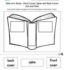 Parts Of A Book Worksheet Luxury Parts Of A Book Kindergarten Language Arts