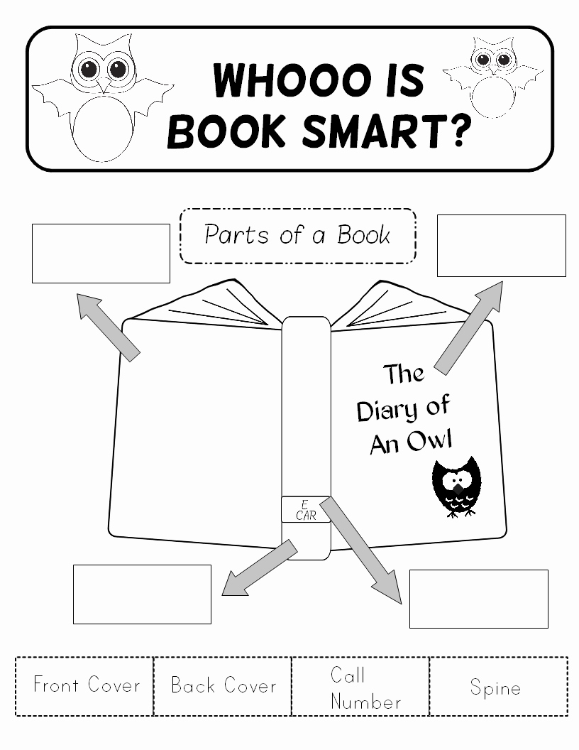 Parts Of A Book Worksheet New A Book About Book Parts & Title Pages