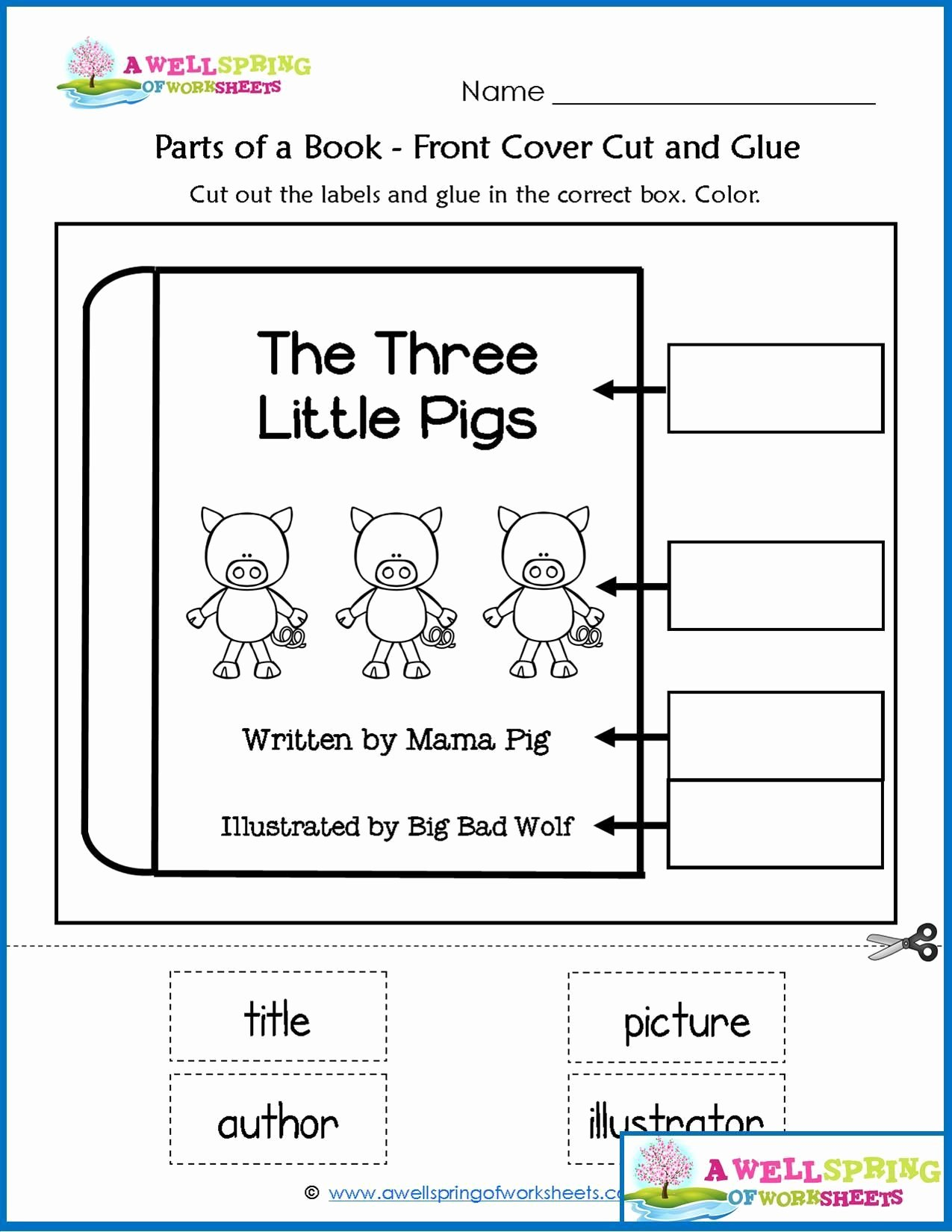 Parts Of A Book Worksheet New Worksheets by Subject