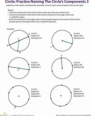 Parts Of A Circle Worksheet Beautiful Practice Naming A Circle S Ponents 3