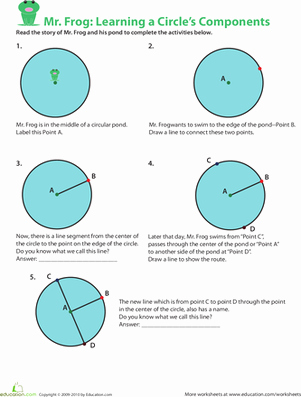 Parts Of A Circle Worksheet Best Of Parts Of A Circle Learning with Mr Frog