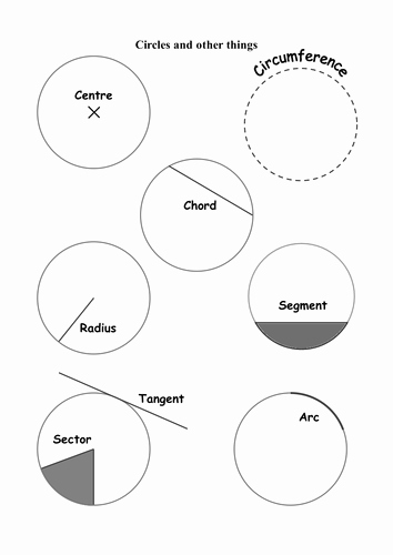 Parts Of A Circle Worksheet Best Of the Circle Names and Parts Of A Circle by Colinbillett