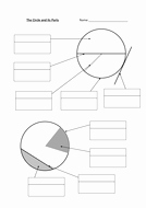 Parts Of A Circle Worksheet Inspirational Parts Circumference and area Of A Circle by andytodd