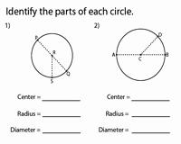 Parts Of A Circle Worksheet Lovely Circles Worksheets