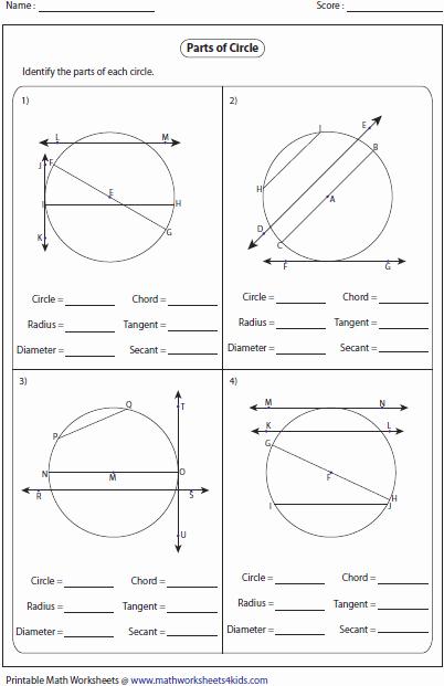 Parts Of A Circle Worksheet Unique Circles Worksheets