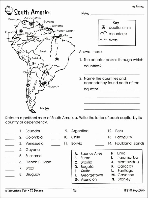 Parts Of A Map Worksheet Awesome Map Skills 4 Details Rainbow Resource Center Inc