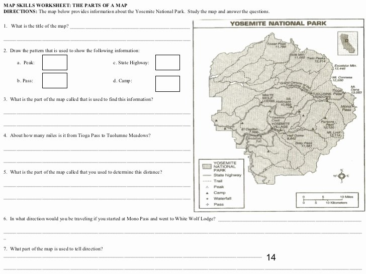 Parts Of A Map Worksheet Awesome Parts A Map Worksheet the Best Worksheets Image