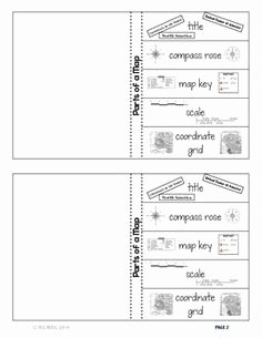 Parts Of A Map Worksheet Awesome Symbols Worksheets and Maps On Pinterest