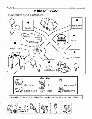 Parts Of A Map Worksheet Beautiful Results for Map Skills Kindergarten
