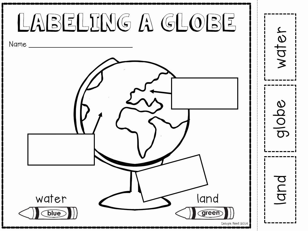 Parts Of A Map Worksheet Elegant Maps and Globes Freebie