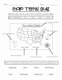 Parts Of A Map Worksheet Fresh Supplemental Map Skills Materials Craft Worksheets