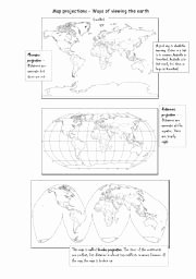 Parts Of A Map Worksheet Inspirational English Worksheets Map Projections