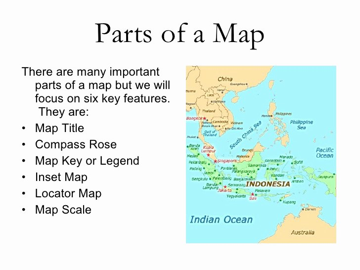 Parts Of A Map Worksheet Inspirational Geo Skills 2 Parts Of A Map