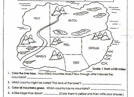 Parts Of A Map Worksheet Inspirational Map Elements Worksheet Find the Parts Have Fun Teaching