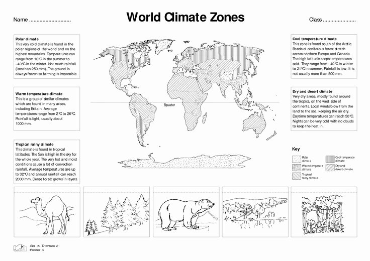 Parts Of A Map Worksheet Unique 5 Best Of Climate Zone Worksheets World Climate