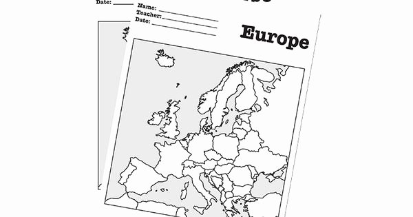 Parts Of A Map Worksheet Unique Maps Europe Worksheet A Blank Map Of Europe for