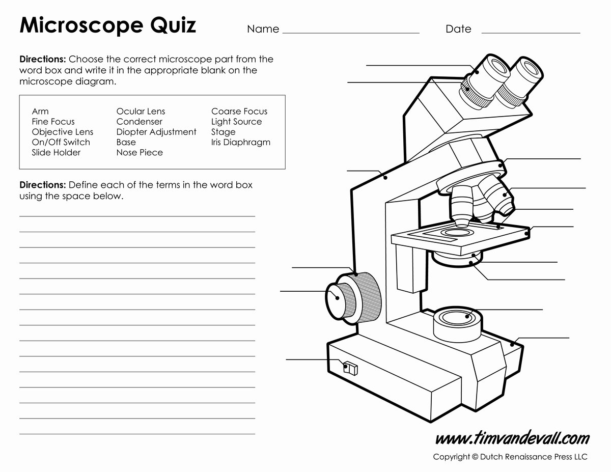 Parts Of A Microscope Worksheet Elegant Monday September 25 Parts Of A Pound Light Microscope