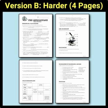 Parts Of A Microscope Worksheet Inspirational Microscope Parts Review Worksheet Editable by Tangstar