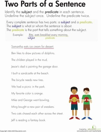 Parts Of A Sentence Worksheet Beautiful the 25 Best Parts Of A Sentence Ideas On Pinterest