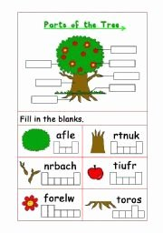Parts Of A Tree Worksheet Beautiful English Worksheet Parts Of the Tree