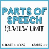 Parts Of Speech Review Worksheet Inspirational Parts Speech Review Worksheet Teaching Resources