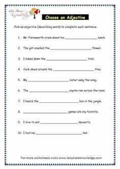Parts Of Speech Review Worksheet New Grade 3 Grammar topic 34 Articles Worksheets Lets