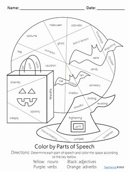 Parts Of Speech Worksheet Pdf Inspirational No Prep Halloween Parts Of Speech Worksheet by Teachering