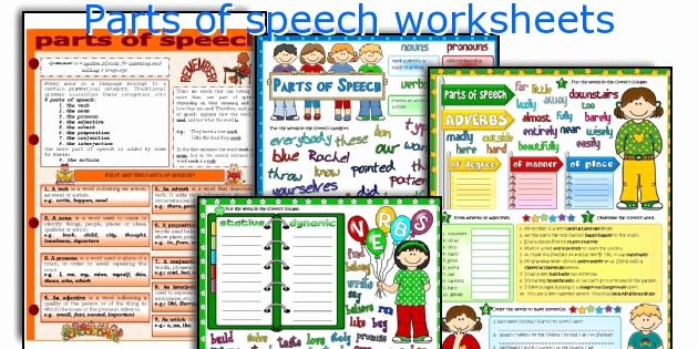 Parts Of Speech Worksheet Pdf Inspirational Parts Of Speech Worksheets