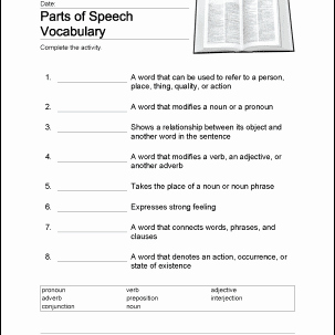 Parts Of Speech Worksheet Pdf Luxury Parts Of Speech Word Search Crossword Puzzle and More