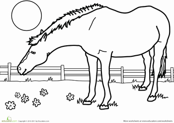 Parts Of the Horse Worksheet Unique Color the Horse Mfw K Horse