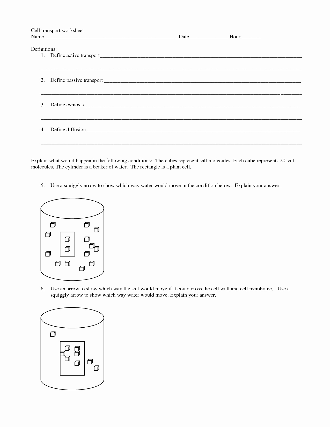 Passive Transport Worksheet Answers Lovely 7 Best Of Active and Passive Transport Worksheet