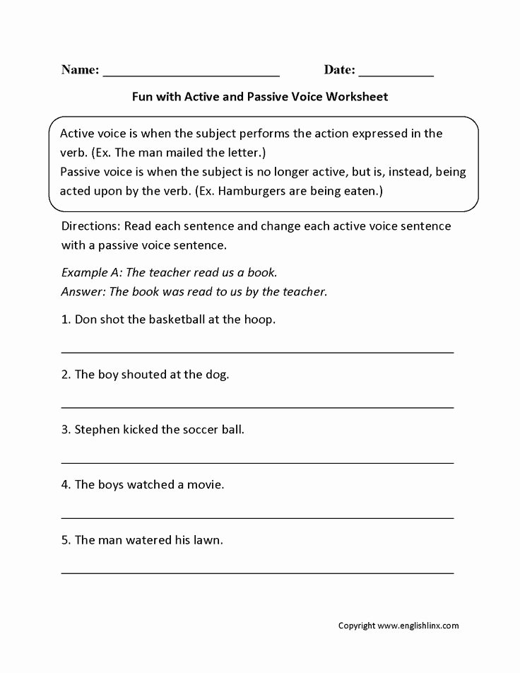 Passive Transport Worksheet Answers Luxury 25 Best Ideas About Active and Passive Voice Pinterest