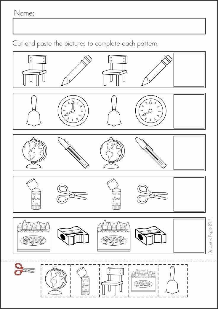 Patterns Worksheet for Kindergarten Elegant 1000 Images About Let S Make Patterns In K On Pinterest