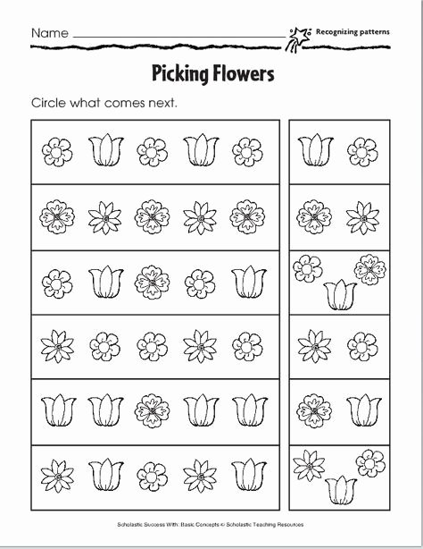 Patterns Worksheet for Kindergarten Elegant Lesson Six – Pictoral Patterns Pre K 3