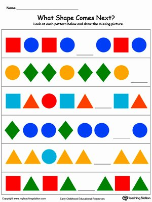 Patterns Worksheet for Kindergarten Inspirational Early Childhood Patterns Worksheets
