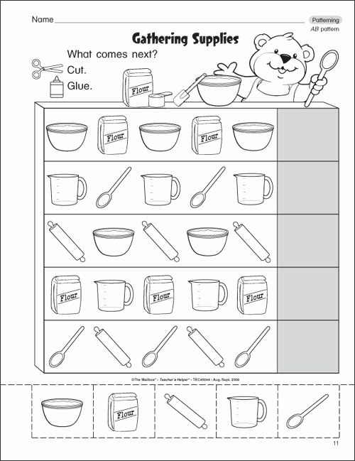 Patterns Worksheet for Kindergarten Inspirational Pattern Worksheets for Kindergarten