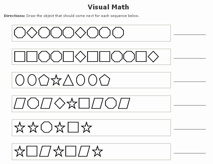 Patterns Worksheet for Kindergarten Lovely Kindergarten Math Pattern Worksheets
