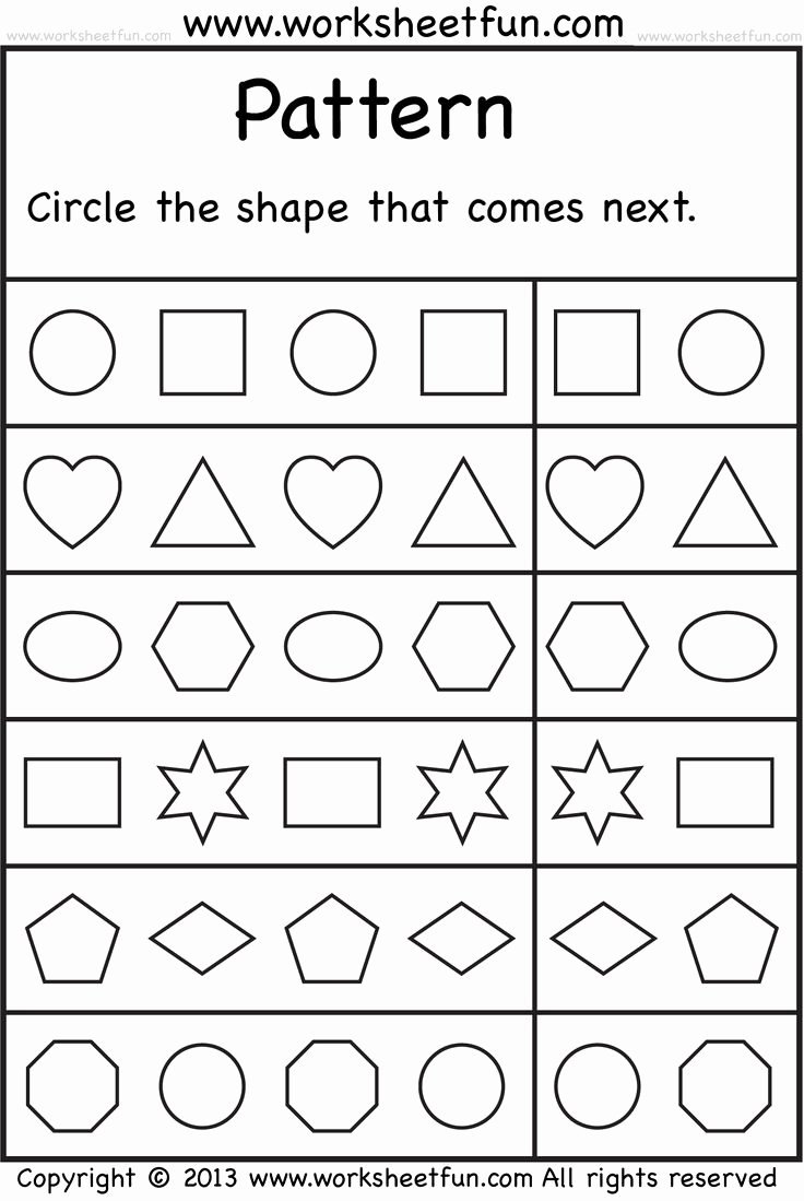 Patterns Worksheet for Kindergarten Luxury Free Printable Worksheets – Worksheetfun Free Printable