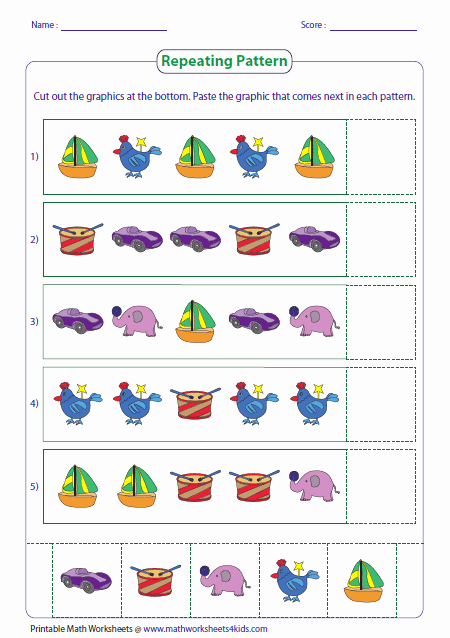 Patterns Worksheet for Kindergarten Luxury Pattern Worksheets