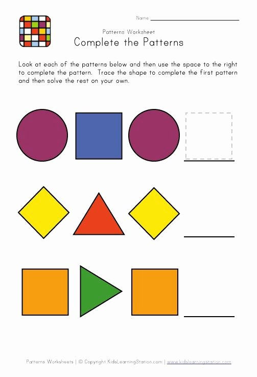Patterns Worksheet for Kindergarten New 11 Best Pattern Worksheets Images On Pinterest