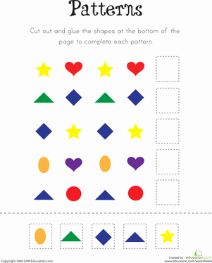 Patterns Worksheet for Kindergarten Unique Pattern Practice Worksheet