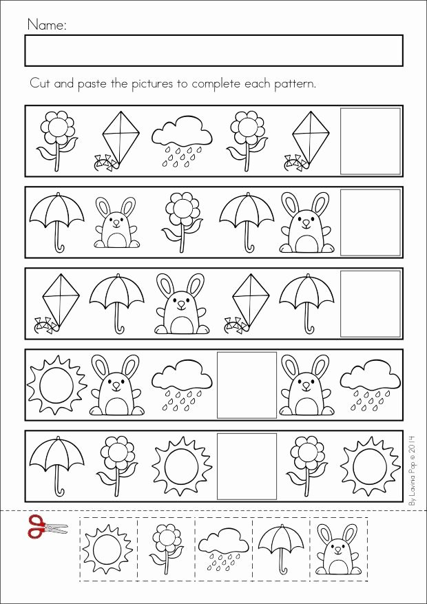 Patterns Worksheet for Kindergarten Unique Pattern Worksheet for Kids