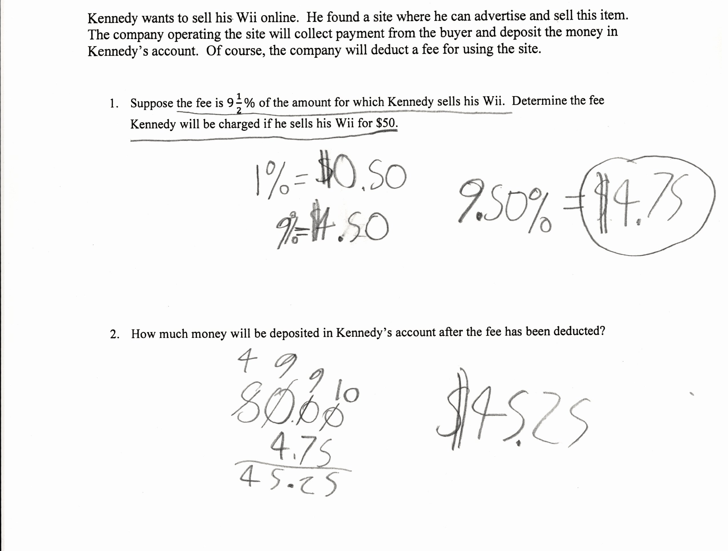 Percent Error Worksheet Answer Key Awesome 7th Grade Percent Worksheets Sanfranciscolife