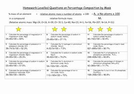 Percent Error Worksheet Answer Key Elegant Differentiated Worksheet On Percentage Position by Mass
