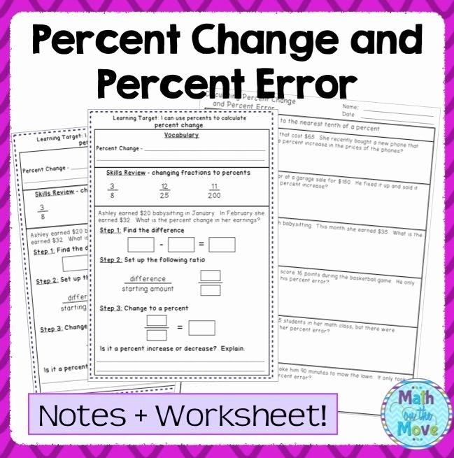 Percent Error Worksheet Answer Key Elegant Percent Error Worksheets