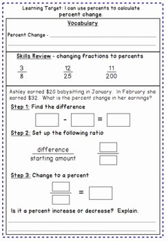 Percent Error Worksheet Answer Key New Percent Change and Percent Error Notes and Worksheet by